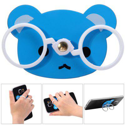 Anti-dropping Bear Glasses Finger Ring Grip Holder Stand