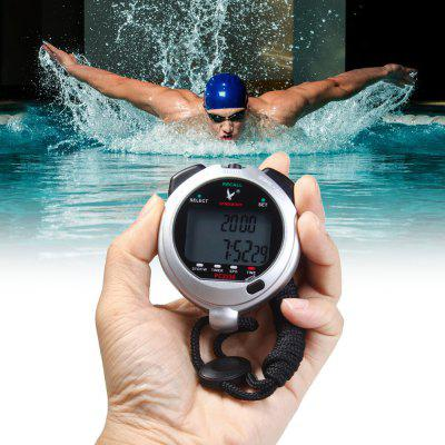 PC2230 2 Rows 30 Memories LCD Digital Sport Stopwatch Countdown Timer with Calendar Alarm Function