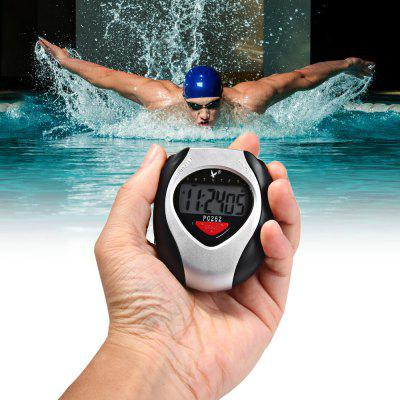 PC262 Single Row 2 Memories LCD Digital Sports Stopwatch with Alarm Date Function