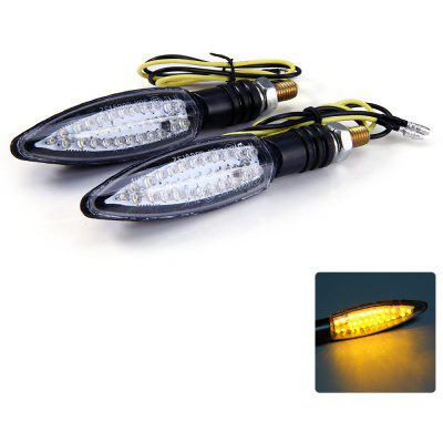 2pcs 12V 30 LEDs Motorcycle Turn Signal Indicator Light for Yamaha QZ - 011 - Amber Light