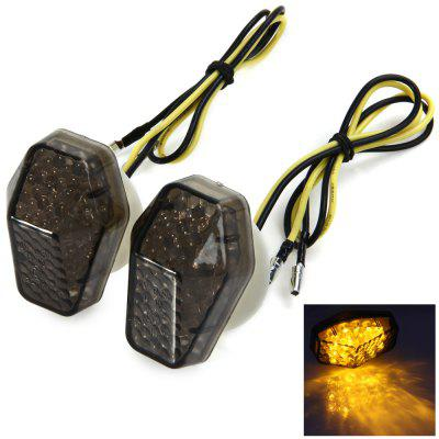 12V 0.5W Rear Turn Signal Light Cornering Lamp 12 LEDs Blinker for Kawasaki Motorcycle Motorbike - 2Pcs
