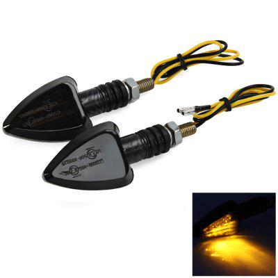Motorcycle Turn Signal Indicator Light 12V 15 LEDs Motorbike Lamp Blinker Flasher - 2Pcs