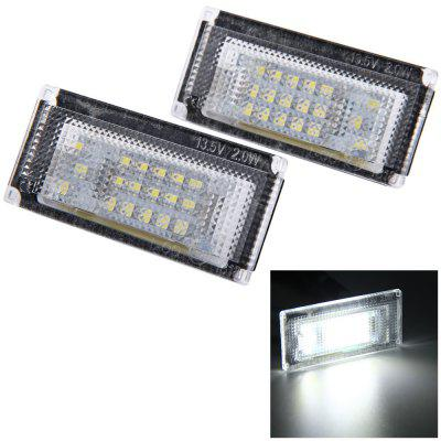2pcs 12V Number License Plate Lamp with 18 LEDs for BMW MINI COOPER S R50 R52 R53 - White Light