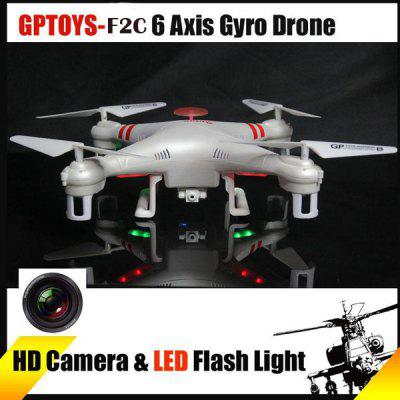 GPTOYS F2C Aviax 3D Eversion Headless Mode 2.4GHz 4CH LCD RC Quadcopter with 2.0MP HD Camera Image