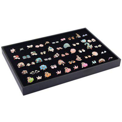 Elegant Ring Tray Jewelry Storage Box 100 Slots Ring Display Case Organizer