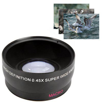 58mm 0.45X Super Wide Angle Macro Lens for Canon Nikon Sony