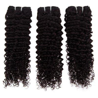 Impressive Real 6A Brazilian Kinky Curly Virgin Hair 16 Inch Natural Black Human Hair Weft For Women