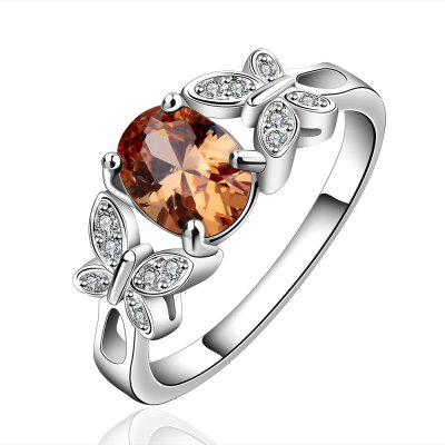 Fresh Style Butterfly Spliced Rhinestone Ring For Women