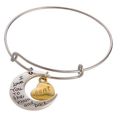 Chic Moon Letter Pendant Bracelet For Women
