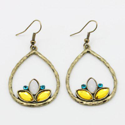 Pair of Fashion Rhinestone Drop Pendant Earrings For Women