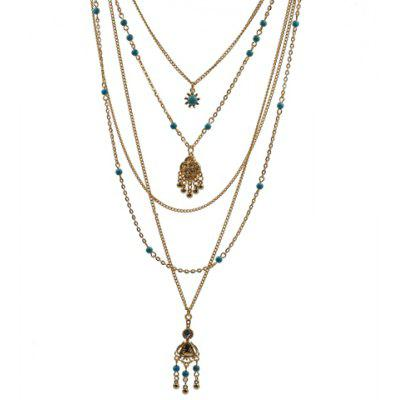 Classic Turquoise Drop Necklace For Women