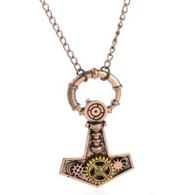 Punk Hollow Gear Pendant Necklace