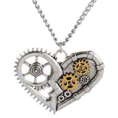 Punk Heart Pendant Necklace For Men