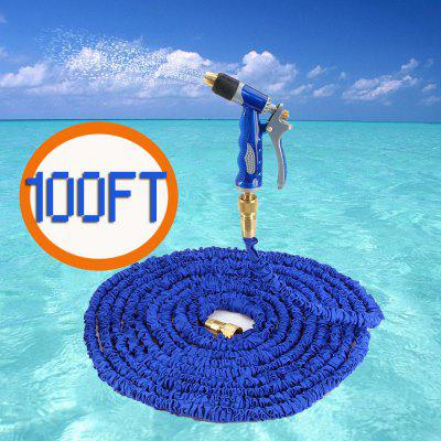 100FT Expandable Garden Water Hose with Copper Spray Gun Connector