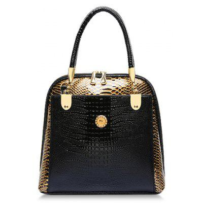 Stylish Style Snake Print and PU Leather Design Women's Tote Bag
