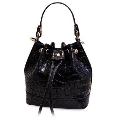 Fashion Style Crocodile Print and String Design Women's Tote Bag
