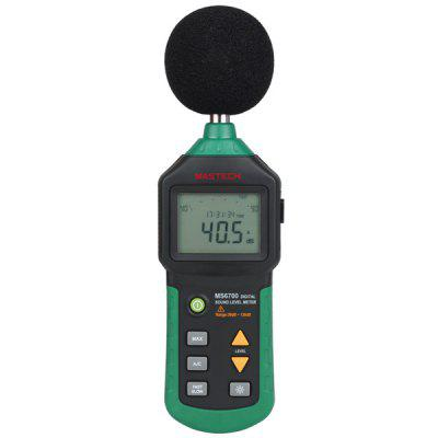 MASTECH MS6700 Digital Sound Level Meter Decibel Noise Meter 30dB to 130dB with Clock and Calendar Function