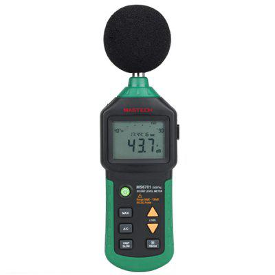 MASTECH MS6701 Digital Sound Level Meter Decibel Noise Meter 30dB to 130dB with Clock and Calendar Function / USB Interface