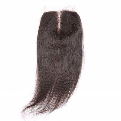 6A Straight Middle Part Top Closure