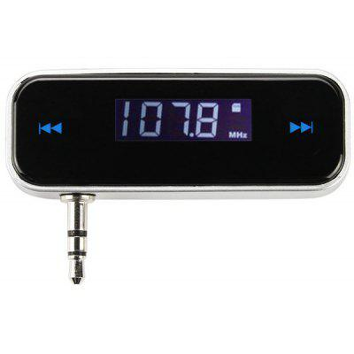 In-car LCD Display Wireless Radio FM Transmitter with 3.5mm Jack for  iPod / iPhone 3G / 3GS / 4S / MP3 / MP4