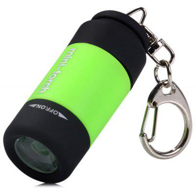 25 Lumens Keychain USB Rechargeable Pocket Flashlight