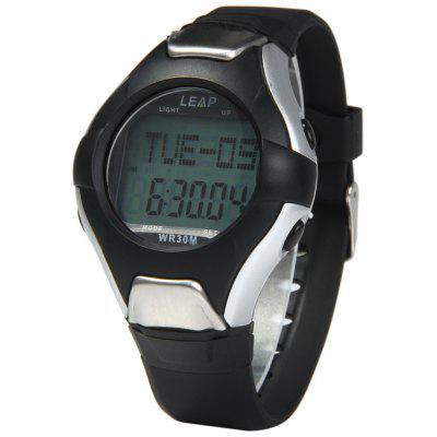 PC2008 30M Water Resistant Heart Rate Monitor Watch with Backlight Alarm Stopwatch Calendar Pedometer Function
