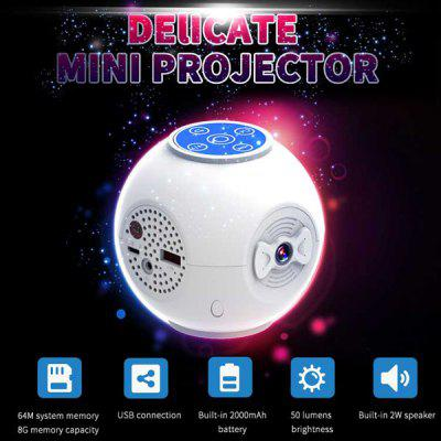 S5 Handheld LED Projector 50LM 320 x 240 Pixels 8GB Memory Capacity with USB Connection / 
