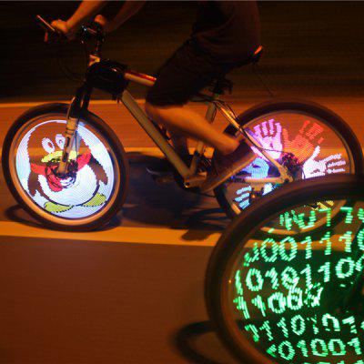 YQ8003 26 inch DIY Programmable LED Bicycle Wheel Light