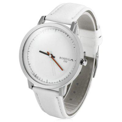 Rosivga 252 Contracted Dial Male Quartz Watch with Leather StrapMens Watches<br>Rosivga 252 Contracted Dial Male Quartz Watch with Leather Strap<br><br>Available Color: Black,Black and white,White<br>Band material: Leather<br>Brand: Rosivga<br>Case material: Stainless Steel<br>Clasp type: Pin buckle<br>Display type: Analog<br>Movement type: Quartz watch<br>Package Contents: 1 x Rosivga 252 Watch<br>Package size (L x W x H): 25.10 x 5.00 x 1.80 cm / 9.88 x 1.97 x 0.71 inches<br>Package weight: 0.0840 kg<br>Product size (L x W x H): 24.10 x 4.00 x 0.80 cm / 9.49 x 1.57 x 0.31 inches<br>Product weight: 0.0340 kg<br>Shape of the dial: Round<br>The band width: 1.6 cm / 0.63 inches<br>The dial diameter: 4.0 cm / 1.57 inches<br>The dial thickness: 0.8 cm / 0.31 inches<br>Watch style: Business<br>Watches categories: Male table