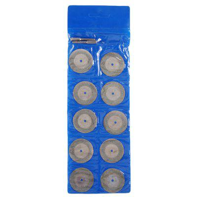 WLXY 35mm Grinding Cutting Discs Blades Set with 2 PCS Mandrels Stone Glass Cutting Grinding Tool - 10 PCS