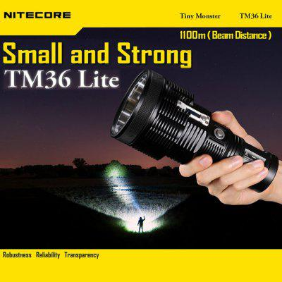 Nitecore TM36 Lite Luminus SBT - 70 18650 Rechargeable Waterproof 18650 / CR123 LED Emergency Flashlight