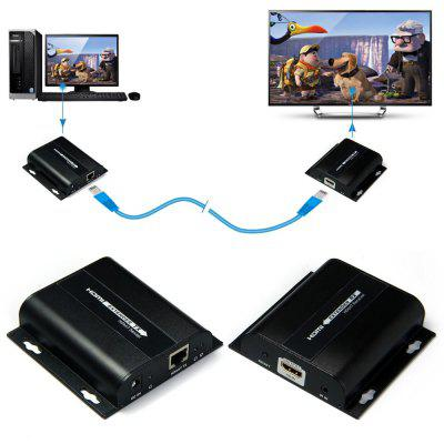 LKV383 Full HD 1080P 150m HDMI Extender IR Control HDbitT Sender Receiver Set Network Cable