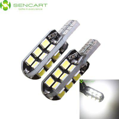 Sencart 2pcs T10 149 W5W 8W 6000 - 6500K 750LM 24 x SMD 3020 White LED Car Side Marker Light ( DC 12 - 16V )