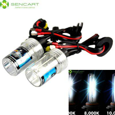 Sencart 9006 HB4 P22D 55W 4500LM 8000K Cool White Light HID Xenon Car Headlamp DC 12V