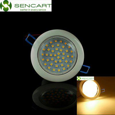 Sencart 8W 42 x SMD 5050 750LM 3000 - 3500K LED Ceiling Downlight DC 12V