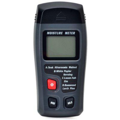RZMT-10 Professional Digital LCD Wood Moisture Tester Humidity Temperature Meter with Backlight