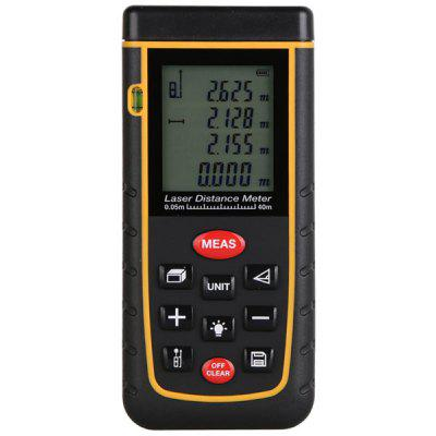 40M LCD Display Laser Distance Meter Digital Range Finder Laser Tape Measure with Bubble Level
