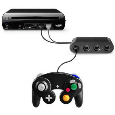 ... Portable 4 Ports GameCube Controller Adapter Converter for Nintendo Wii  U Video Game ...