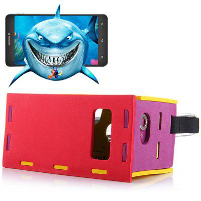 EVA Board DIY 3D VR Glasses Smart Phone 3D Private Theater with Magnetic Sensor Support NFC for 5 - 8 inches Smartphone