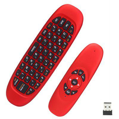 C120 All-in-One 2.4GHz Air Mouse +Tastiera QWERTY + Telecomando per Home Entertainment