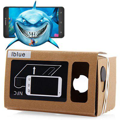 iBlue DIY Cardboard 3D VR Glasses Smart Phone 3D Private Theater with Magnetic Sensor Support NFC for 3.5 - 5.5 inches Smartphone