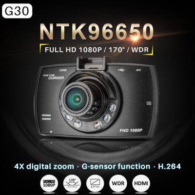 Dome G30 2.7 inch LCD 1080P Full HD DVR 170 Degree Wide Angle Lens 5.0MP COMS
