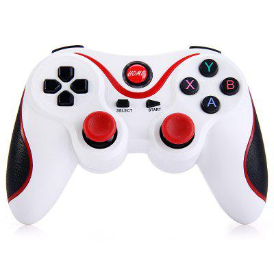 T3 Wireless Bluetooth 3.0 Gamepad Gaming ControllerGame Controllers<br>T3 Wireless Bluetooth 3.0 Gamepad Gaming Controller<br><br>Bluetooth Version: V3.0<br>Capacity: 500mAh<br>Compatible with: Smartphone<br>Features: Charger<br>Functions: Bluetooth<br>Model: T3<br>Package Contents: 1 x T3 Bluetooth Gamepad, 1 x USB Cable, 1 x User Manual in English and Chinese<br>Package size: 17.00 x 11.00 x 6.50 cm / 6.69 x 4.33 x 2.56 inches<br>Package weight: 0.2400 kg<br>Product size: 14.50 x 9.60 x 2.50 cm / 5.71 x 3.78 x 0.98 inches<br>Product weight: 0.1310 kg
