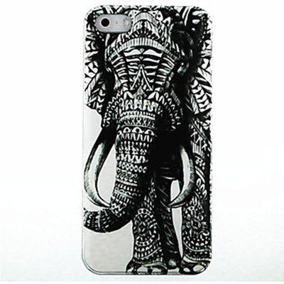 Kinston Special Left Side of Elephant Pattern PC Phone Back Cover Case for iPhone SE / 5 / 5S