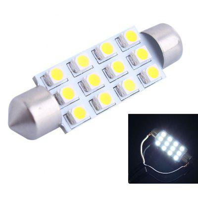 Buy COOL WHITE LIGHT 42mm 3W 150LM 12xSMD 3528 6000K Double Pointed LED Car Reading / License Plate / Door Lamp DC 12V for $4.71 in GearBest store