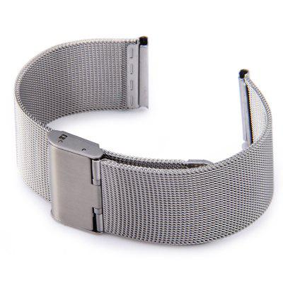 Buy SILVER Stainless Steel Mesh Watch Band with Adjustable Clasp for Apple Watch 42mm for $5.22 in GearBest store