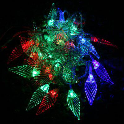 21%OFF 6m 28 LEDs RGB Christmas Leaf LED String Light For Outdoor Garden  Party