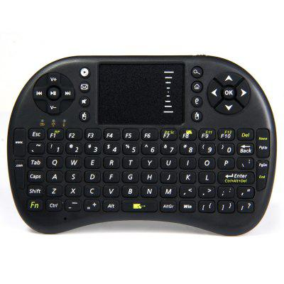 UKB - 500 - RF 2.4GHz Mini Wireless Keyboard with Touch Pad LED Indicator Built - in Lithium - ion Battery