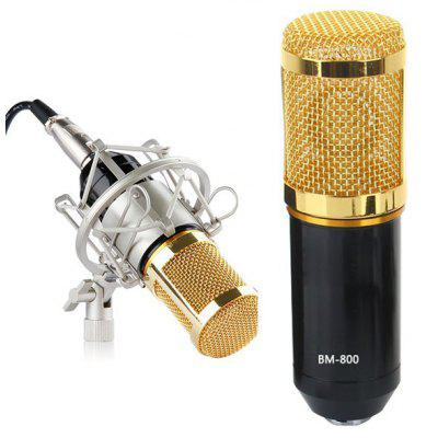 Professional Studio Condenser Sound Recording Microphone + Metal Shock Mount Kit