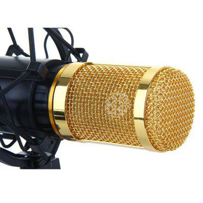 BM-800 Professional Studio Condenser Sound Recording Microphone + Plastic Shock Mount Kit for Recording superlux ecm999 ecm 999 highly reliable professional measument microphone condenser testing microphone